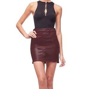 NWT Good American Waxed Mini Skirt!